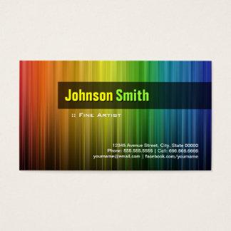 Fine Artist - Stylish Rainbow Colors Business Card