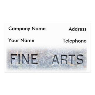 Fine Arts Card Business Card Templates