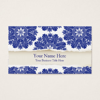 Fine China Blue and White Business Card