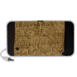Fine couche d'or avec l'inscription phénicienne, d haut-parleurs PC