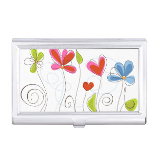 Fine Cute Cool Girly Retro Floral Fashion Business Card Holder