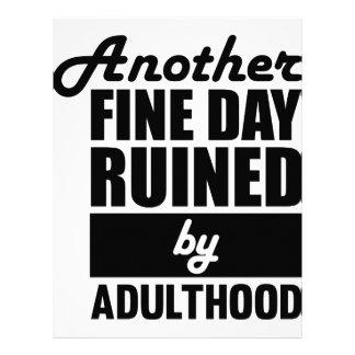 Fine Day Ruined Letterhead
