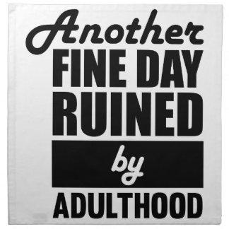 Fine Day Ruined Napkin
