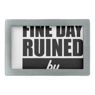 Fine Day Ruined Rectangular Belt Buckles