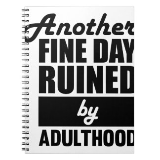Fine Day Ruined Spiral Notebook