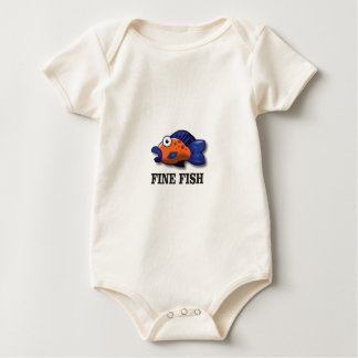 fine fish yeah baby bodysuit