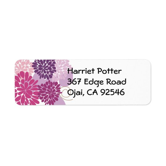 Fine Flower Cool Cute Girly Retro Floral Return Address Label