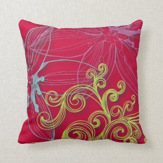 Fine Flower Cool Cute Girly Retro Floral Throw Pillow
