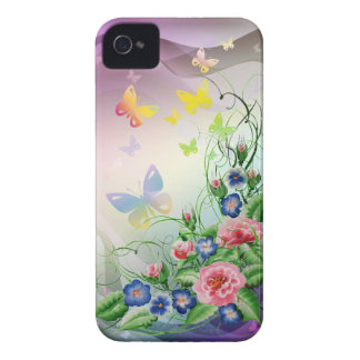 Fine flowers and Butterflies Case-Mate iPhone 4 Cases
