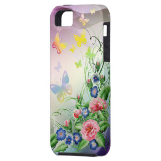 Fine flowers and Butterflies iPhone 5 Cover