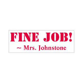 """FINE JOB!"" Marking Rubber Stamp"