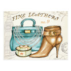 Fine Leather Bag and Shoe Postcard