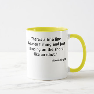 Fine line fishing tee w photo lure back mug