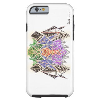 Fine-lined Spaceship Tough iPhone 6 Case