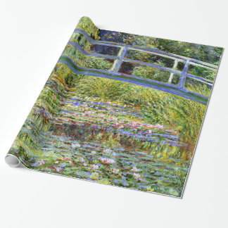 Fine Monet Japanese Bridge & Water-Lily Pond Wrapping Paper