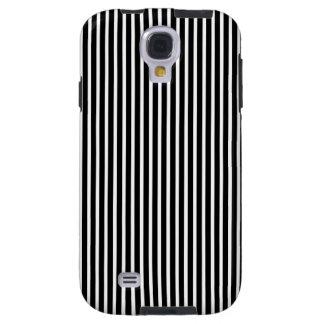 Fine Stripes Galaxy S4 Case in Black and White
