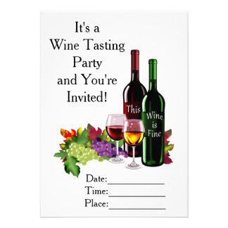 "Fine Wine 5"" X 7"" Invitation Card"