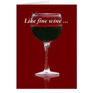 Fine Wine Appreciate Thank you Card