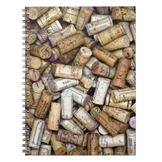 Fine Wine Corks Spiral Note Book