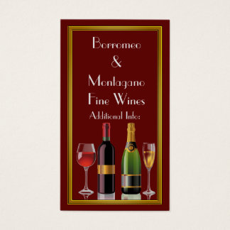 Fine Wine Red Business Card 2