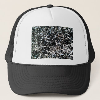 fine wires filing trucker hat