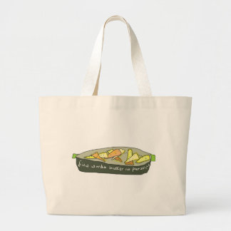 Fine Words Butter No Parsnips Large Tote Bag