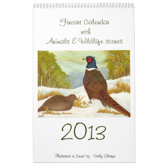 Fineart Calendar with Animals & Wildlife scenes