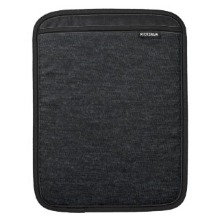 Finely Knit Charcoal Merino Wool Texture iPad Sleeve