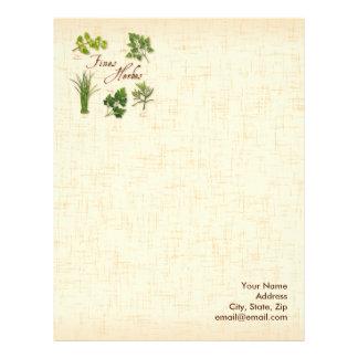 Fines Herbs Recipe, Parsley, Chives, Tarragon, Letterhead