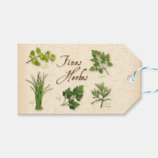 Fines Herbs Recipe, Parsley, Chives, Tarragon, Pack Of Gift Tags