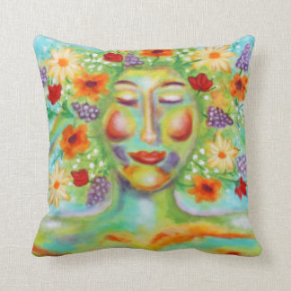 """""""Finest Thoughts"""" Art by Victoria Lynn Hall Throw Pillow"""