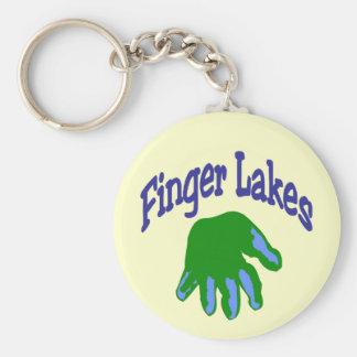 Finger Lake Cartoon Basic Round Button Keychain