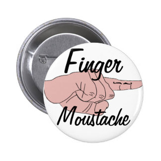Finger Moustache Button