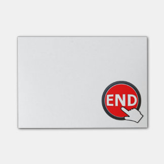 Finger on the Button Post-it Notes