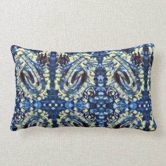 Finger Painting  - Blues Lumbar Pillow