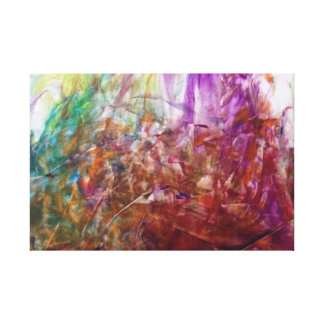 Finger Painting Canvas Print