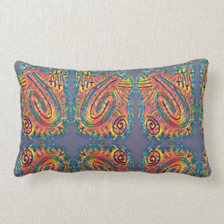 Finger Painting - Fiesta Lumbar Pillow