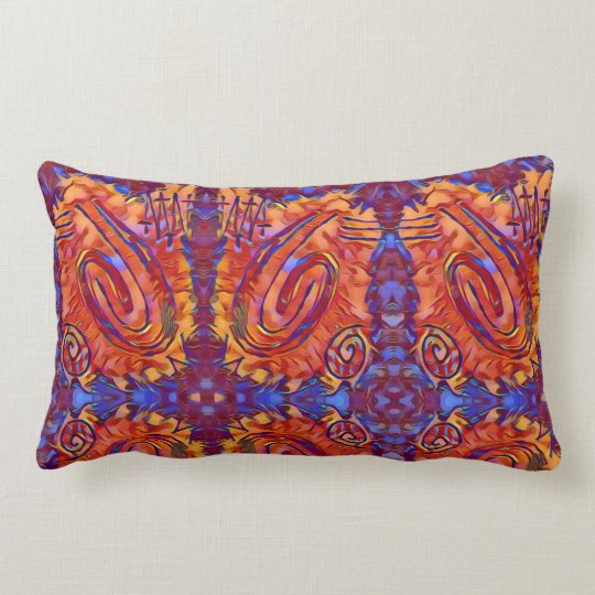 Finger Painting - Pinata Lumbar Pillow