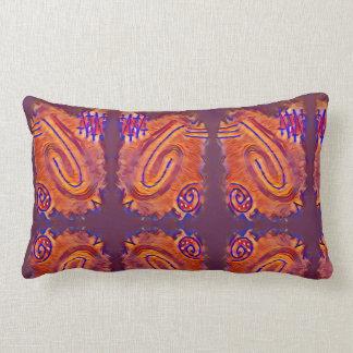 Finger Painting - Plum Lumbar Pillow