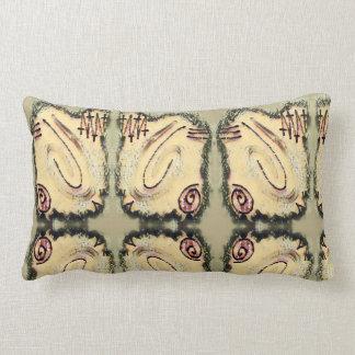Finger Painting - Stone Lumbar Pillow