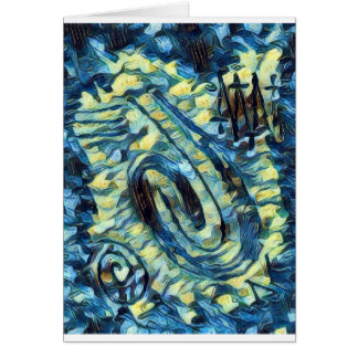 Finger Painting  - Van Gogh Card