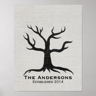 Finger Print Tree Family Reunion Classy Linen
