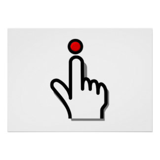 Finger Pushing Button Poster