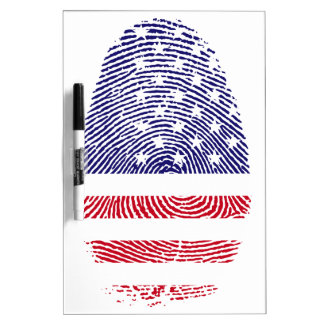 Fingerprint American USA National Flag Independenc Dry Erase Whiteboard