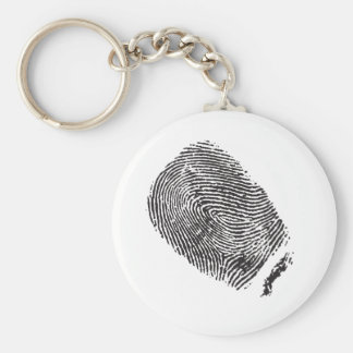 Fingerprint Basic Round Button Keychain