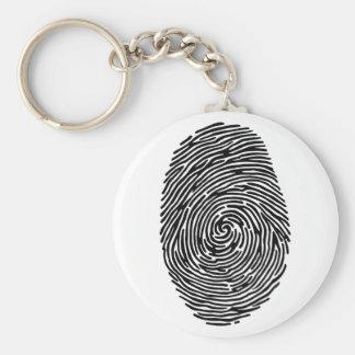 fingerprint basic round button keychain