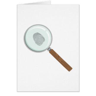 Fingerprint Clue Card