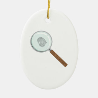 Fingerprint Clue Ceramic Ornament