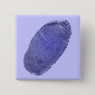 Fingerprint Graphic 2 Inch Square Button