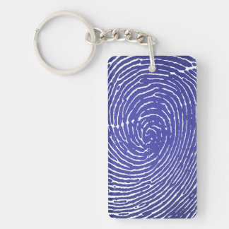 Fingerprint Graphic Double-Sided Rectangular Acrylic Keychain
